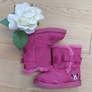 Disney Brand Minnie Mouse Pink Boots